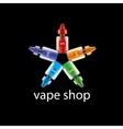 logo for shop electronic cigarettes vector image
