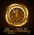 new year background with golden clock vector image