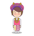 north sumatra province fashion cute girl vector image vector image