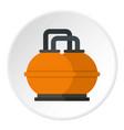 orange fuel storage tank icon circle vector image vector image