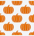 orange pumpkins on white background seamless vector image