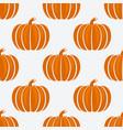 Orange pumpkins on white background seamless
