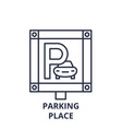 parking place line icon concept parking place vector image vector image