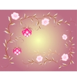 Pattern of beautiful raspberry and pink flowers vector image vector image