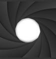 photo camera shutter vector image