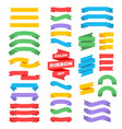 retro text ribbon banners in flat style vector image vector image