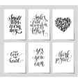 set of 6 hand written lettering positive vector image vector image