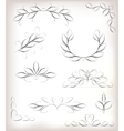 seta lot of design elements with leaves and vector image