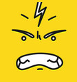 smile icon template design angry emoticon vector image vector image
