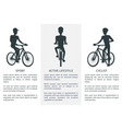 sport active lifestyle and cyclist bright banner vector image
