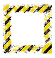 square frame with black shabby old yellow lines vector image vector image