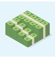 Stacked pile of cash vector image vector image