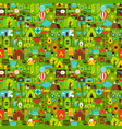 summer camping seamless pattern vector image vector image