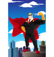 superhero businessman vector image vector image