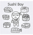 SushiBoy vector image vector image