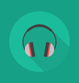 Technology Flat Icon Headphones vector image