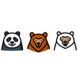 three different bear vector image vector image