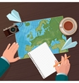 travel planning Top view vector image