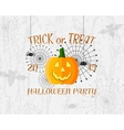 Trick or Treat banner Happy Halloween Poster vector image vector image
