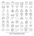valentine icons set valentine icons set vector image