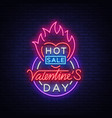 valentines day sale design template poster vector image