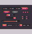 web of ui kit vector image vector image