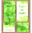 Wedding card templates vector image