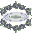 wreath of bushes of blueberries vector image