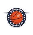Basketball club logo vector image