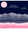 Blue and pink night landscape vector image
