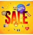 sale poster or flyer design vector image