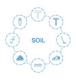 8 soil icons vector image vector image