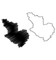 al madinah region map vector image vector image
