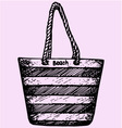 Beach summer bag vector image vector image