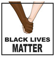 black lives matter protest banner vector image