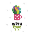 cactus card vector image