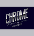 chrome metal alphabet vector image vector image