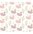 cute ducks seamless pattern endless texture vector image vector image