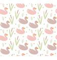 cute ducks seamless pattern endless texture vector image