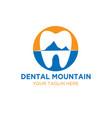 dental mountain logo designs vector image