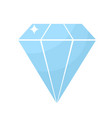 diamond icon in cartoon style isolated luxury vector image vector image