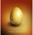 easter background with gold filigree egg vector image vector image