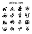 ecology sustainable lifestyle icon set vector image vector image