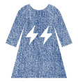 electric energy girl dress fabric textured icon vector image