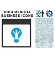 Electrician Calendar Page Icon With 1000 Medical vector image vector image