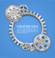 engineering gear on paper vector image vector image