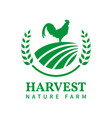 farm agriculture harvest logo template vector image vector image