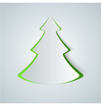 fir-tree paper icon vector image