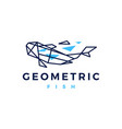fish geometric polygonal logo icon vector image vector image