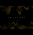 gold glitter confetti wave on black background vector image